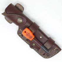 TBS Leather Multi Carry Leather Knife Sheath with Firesteel Attachment - Regular